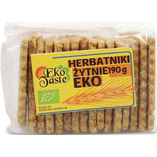 HERBATNIKI WEGAŃSKIE ŻYTNIE BIO - 190g [Eko Taste]