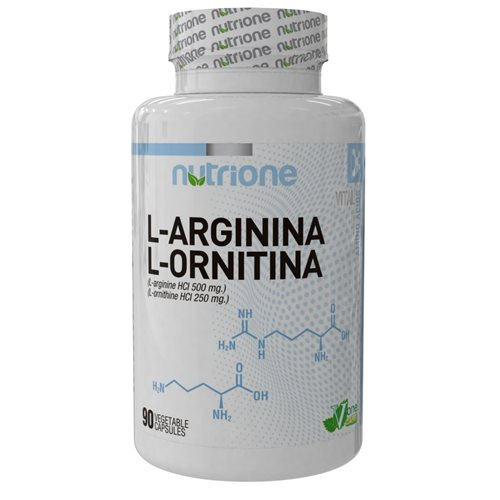 L-ARGININE+L-ORNITHINE - 90kaps [Nutrione]