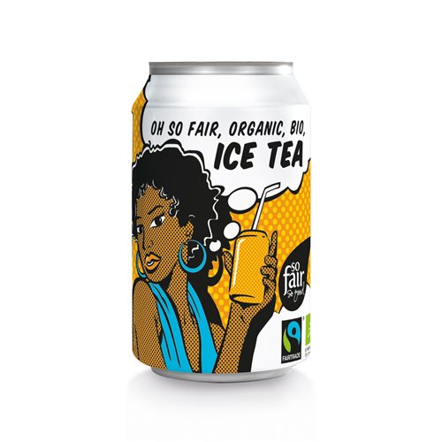 ICE TEA FAIR TRADE BIO - 330ml PUSZKA [Oxfam]