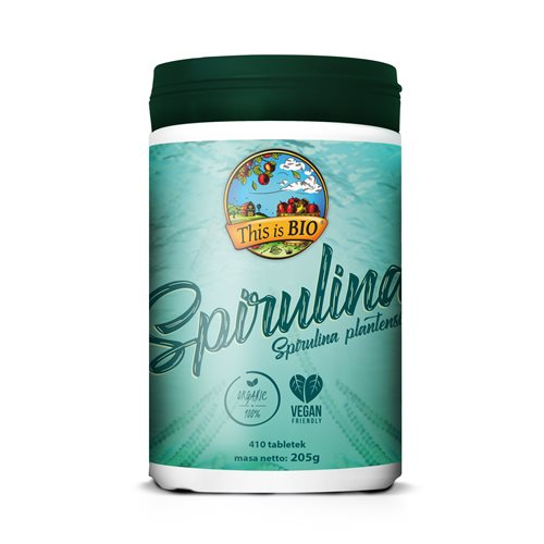 SPIRULINA 100% ORGANIC - 410tabl [This is Bio]