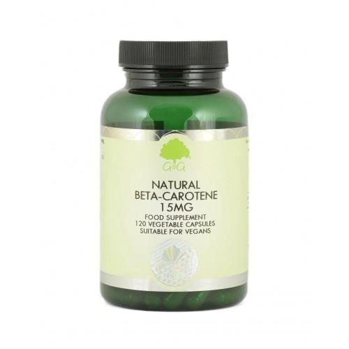NATURAL BETA-CAROTENE 15mg - 120kaps [G&G]