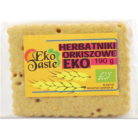 HERBATNIKI WEGAŃSKIE ORKISZOWE BIO - 190g [Eko Taste]