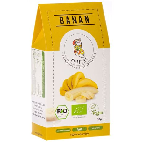 BANAN SUSZONY BIO - 50g [Puffins]