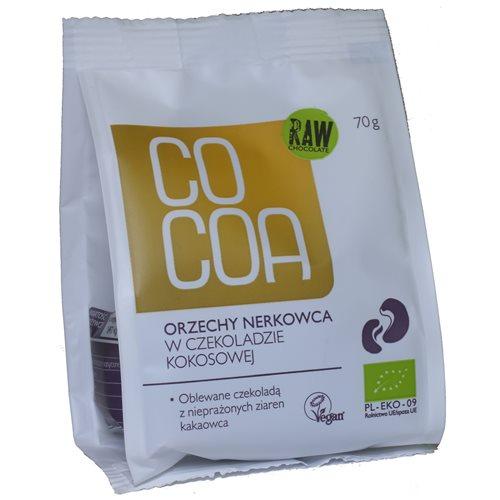 ORZECHY NERKOWCA W CZEKOLADZIE KOKOSOWEJ BIO - 70g [Cocoa]