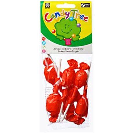 LIZAKI OKRĄGŁE O SMAKU TRUSKAWKOWYM BEZGLUTENOWE BIO - 7 x 10g [Candy Tree]