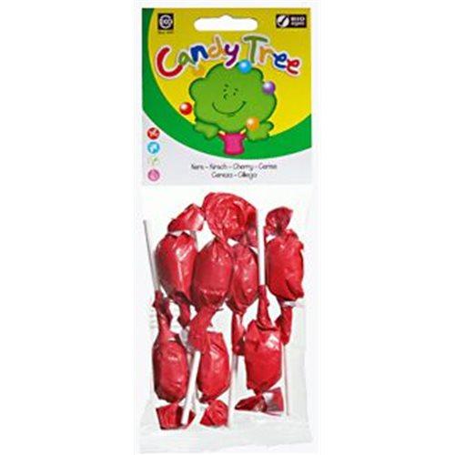 LIZAKI OKRĄGŁE O SMAKU WIŚNIOWYM BEZGLUTENOWE BIO - 7 x 10g [Candy Tree]
