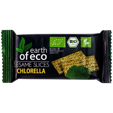 SEZAMKI Z CHLORELLĄ BEZGLUTENOWE BIO - 18g [Earth of Eco]