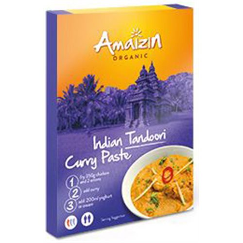 PASTA CURRY INDIAN TANDOORI BIO - 80g [Amaizin]