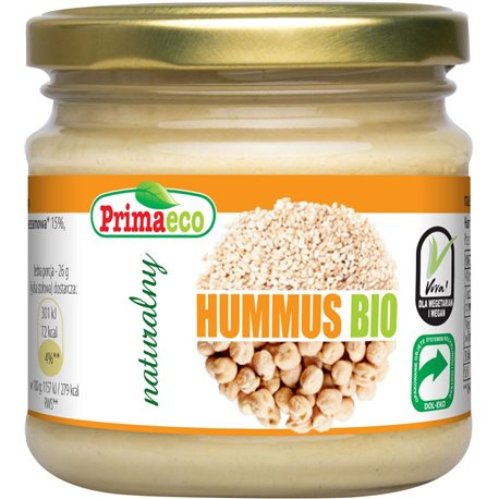 HUMMUS NATURALNY BIO 160 g - PRIMAECO