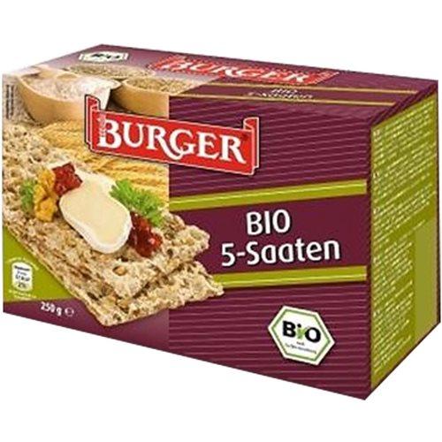PIECZYWO CHRUPKIE RAZOWE 5 ZIAREN BIO 250 g [Burger]