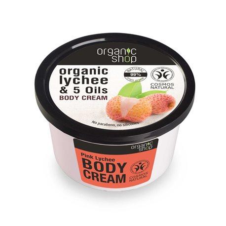 KREM DO CIAŁA RÓŻOWE LICZI 250ml [Organic Shop]