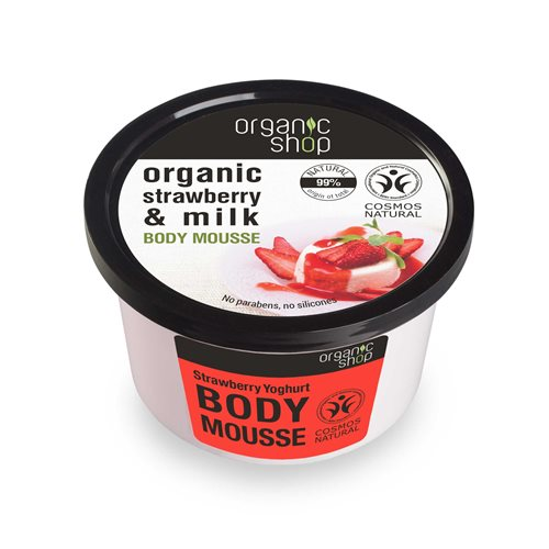MUS DO CIAŁA TRUSKAWKOWY JOGURT 250ml [Organic Shop]
