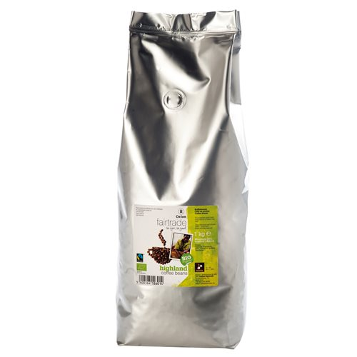 KAWA ZIARNISTA ARABICA FAIR TRADE BIO - 1kg [Oxfam]