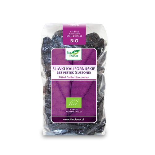 ŚLIWKI KALIFORNIJSKIE BEZ PESTEK BIO - 400g [Bio Planet]
