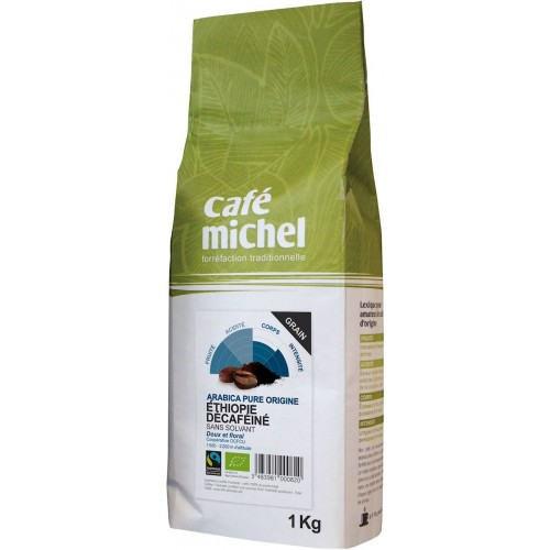 KAWA ZIARNISTA BEZKOFEINOWA ARABICA ETIOPIA FAIR TRADE BIO - 1kg [Cafe Michel]