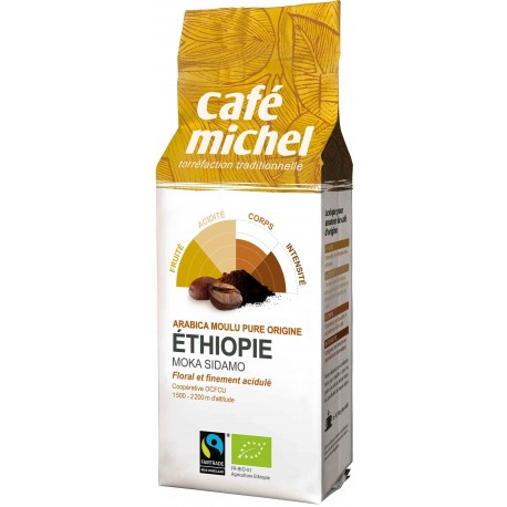 KAWA MIELONA MOKA SIDAMO ETIOPIA FAIR TRADE BIO - 250g [Cafe Michel]