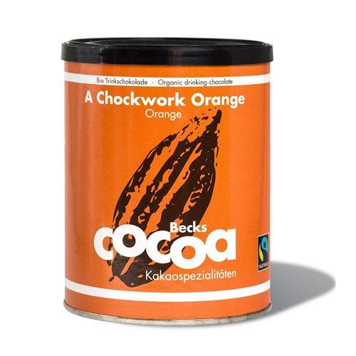 CZEKOLADA DO PICIA POMARAŃCZOWO-IMBIROWA FAIR TRADE BEZGLUTENOWA BIO - 250g - BECKS COCOA