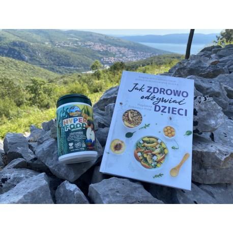 """Zestaw: książka ,,Jak zdrowo odżywiać dzieci"""" + Hyperfood"""
